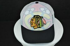 Chicago Blackhawks Reebok Center Ice Big Logo Snapback Hat NHL Hockey Cap White