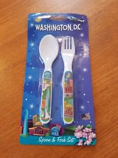 Kids Washington D.C. Spoon And Fork Set made out of Melamine