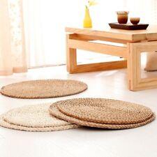 Eco Corn Husk Cattail Hassock Pad Mat Cool Tatami Floor Chair Seat Cushion Retro