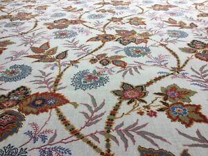 "Schumacher Curtain Fabric ""Emperor's Vine"" Document 1m 100% Linen - Ottoman Chic"