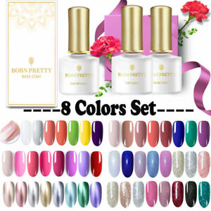 BORN PRETTY 8 Colors Gel Nail Polish Set Soak Off UV LED Nail Art Kits Gifts 6ML