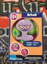 Burger King Pokemon Promo Card Arbok #24