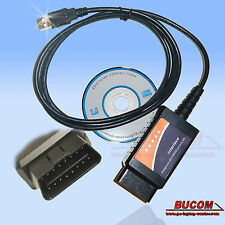 OBD2 COCHE CABLE DE DATOS Diagnóstico USB para BMW MERCEDES VW OPEL FORD NISSAN