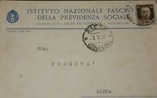 PNF ISTITUTO NAZIONALE FASCISTA DELLA PREVIDENZA SOCIALE DI COSENZA  tst