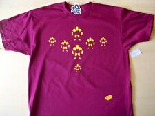 1980s style Wrestler t-shirt retro sport hand placed vinyl L large mens burgundy