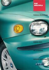 Fiat Multipla Specification 2002-04 UK Market Brochure 1.6 1.9 JTD SX ELX
