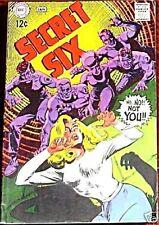 SECRET SIX 5 VF- 1968 DC  SERIES 6 5th APPEARANCE RARE KEY 6