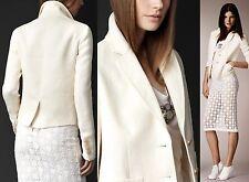 $1,295 Burberry Prorsum 6 8 40 Linen Canvas Artist Jacket Suit Coat Women Lady