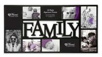 Home Collection Family Multi Aperture Photo Picture Frame Holds 10 Photos-Black