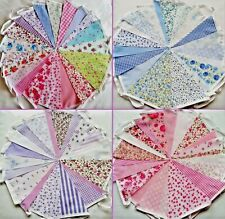 Fabric Bunting Wedding Vintage Shabby & Chic Handmade Floral Lace 10/20