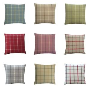 Highlands Lewis Tartan Tweed Plaid multi colours size hand made UK cushion cover
