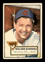 1952 Topps Set Break # 114 Willard Ramsdell VG *OBGcards*