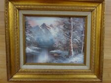 Listed Artist Roger Brown Original Signed Acrylic Painting Vintage Framed Canvas
