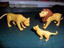 PLAYMOBIL ZOO/Safari/Animaux sauvages - 3 x Lions, 1 Lion, 1 lionne & 1 lion cub