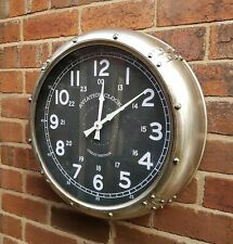 Large 51cm Aviation WALL CLOCK Metal Industrial Aviation Style Wall Mounted