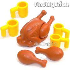 Lego Thanksgiving Minifigure Easter Christmas Turkey Dinner Cups Drumsticks NEW