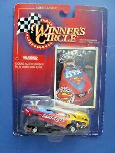 NHRA - JOHN FORCE - SUPERMAN FORD MUSTANG - 1998 WINNERS CIRCLE - 1:64 CAR - PS