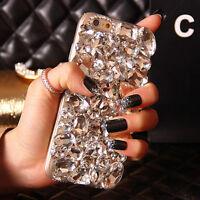 3D Handmade Luxury Bling Full Crystal Diamond Case Cover for iPhone 7 6