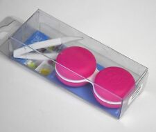 pick 1 color pink blue purple macaron shape contact lens case with forceps