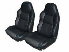 CHEVY CORVETTE C4 STANDARD 94-96 BLACK S.LEATHER CUSTOM FIT SEAT COVER