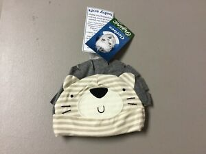 NWT Infant Boys Gerber Baby Soft 3 Hats Organic Cotton Newborn Multi #26V
