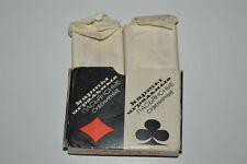 Vintage NOS mini Rummy Canasta Bridge playing cards Russian orig box 2x 55 deck