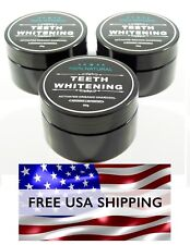 100% Natural Organic Activated Black Charcoal Tooth Whitening Powder Toothpaste