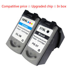 2x Ink Cartridge For Canon PG37 CL38 MP210 MP220 MP140 MX300 MX310 MP470
