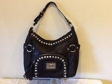 Lou-ella  Lrg single Compartment Black Shoulder Bag-NWT!