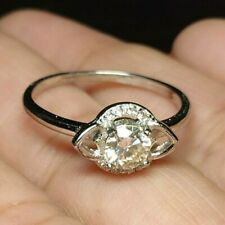 Engagement Ring 925 Sterling Silver Round Brilliant Cut Moissanite Solitaire