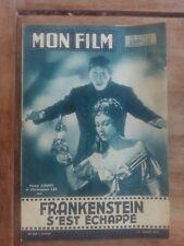 Magazine MON FILM FRANKENSTEIN S'EST ECHAPPE hazel COURT christopher LEE 1958 *