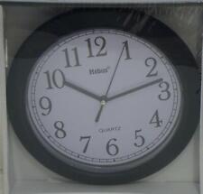 MEBUS Quarz Wanduhr / Uhr analog 20,5cm schwarz 16445