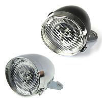 Retro Bicycle Bike Accessory Front Light Bracket Vintage 3LED Headlight (Si A2L8