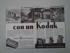 advertising Pubblicità 1936 KODAK VERICHROME/RETINA/REGENT