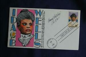Ida B Wells Black Heritage Series 25c Stamp FDC Goldberg HP Cachet S#2442 06835