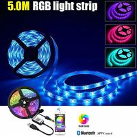 5M LED Strip Lights TV Back Light RGB 5050 SMD Color Changing WIFI Controller 5V