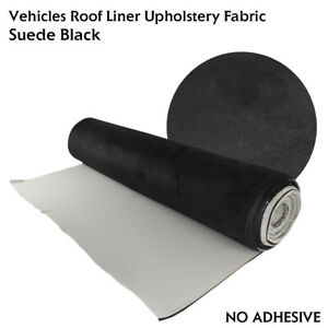 SUEDE Fabric Headliner Roof Lining,Make Look&Feels Like Expensive Black 1.5x1.4M