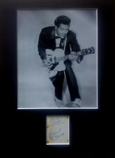 AUTHENTIC CHUCK BERRY AUTOGRAPH signed 1960s Rock and Roll