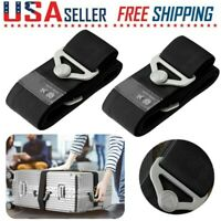 2PCS Travel Luggage Straps Adjustable Baggage Strap Suitcase Safety Packing Belt