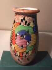 Crown Ducal Ware hand painted Colourful Art Deco  vase   1920/30's