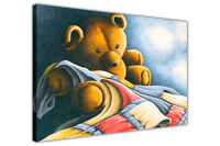 Cute Teddy Bear on Framed Canvas Wall Art Picture Décor Print
