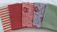 Mill Book Series 1835 Moda Quilt fabric Collection for a Cause 5 FQs purple