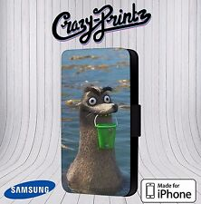 Gerald Bucket Finding Dory Funny Cool Phone Cover Leather Flip Case A72