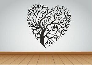 Tree Of Life sticker decal wall heart Shape Mural Home Decor room office Art