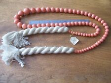 110 Grams Beads to 22mm Large Antique Genuine Natural Coral Necklace