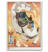 Avatar the Last Airbender Appa Team Aang Katara Toph Japanese Poster Print Mondo