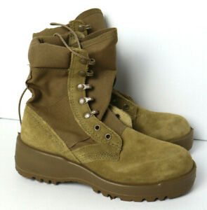 HOT WEATHER ARMY COMBAT BOOTS - COYOTE SPE1C1-17-D-1004 SZ 4-W