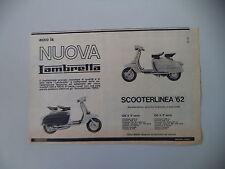advertising Pubblicità 1962 LAMBRETTA LI 125/150