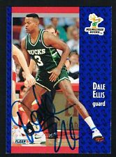 Dale Ellis #114 signed autograph auto 1991-92 Fleer Basketball Trading Card