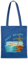 Pixel Just Relax Stofftasche Einkaufstasche Gamer Gaming Fun Beach Urlaub Meer